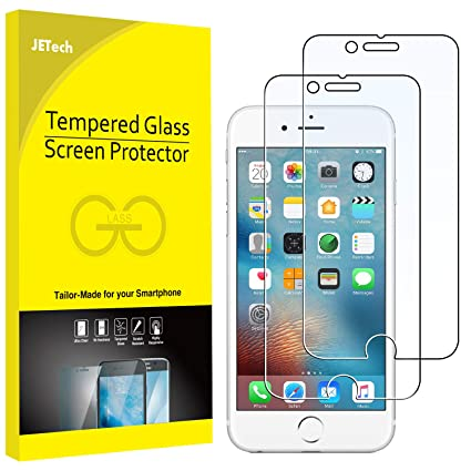 newest ce05b b633e JETech Screen Protector for Apple iPhone 6 and iPhone 6s 4.7-Inch, Tempered  Glass Film, 2-Pack