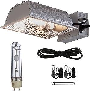 TopoGrow 315W CMH CDM Grow Light Kit W/3100K Bulb& Horizontal Ballast 120V-240V&Enclosed Reflector (315W Enclosed Kit /3100K)