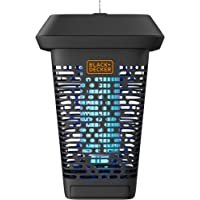 BLACK + DECKER Bug Zapper and Mosquito Zapper | Electric UV Insect Catcher & Killer for Flies, Mosquitoes, Gnats & Other Pests | 1 Acre Outdoor Coverage for Patio, Camping & More Home, Deck, Garden