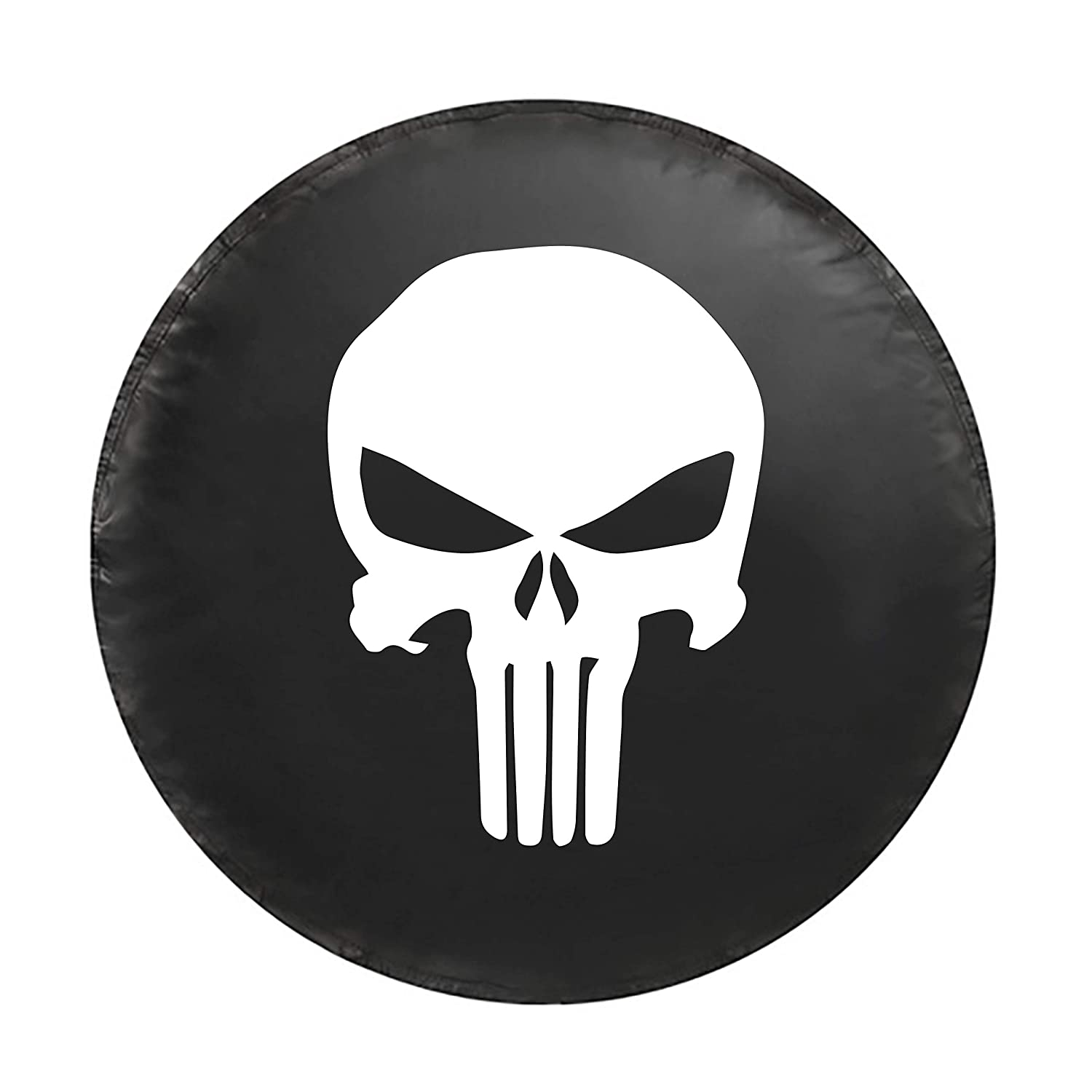 Choose from Multiple Designs with Flag /& Crossbones Boat Trailer , Skull 2 Jeep Wranglers 16 INCH Rugged Weather Resistant Leather Grain Vinyl Kenkesh Skull Spare Tire Cover for RV L