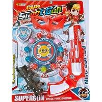 Forever Kidzz air Gun Shooting Gun with Soft 12 Balls and Dart Gun with Accessories for Kids/Boys