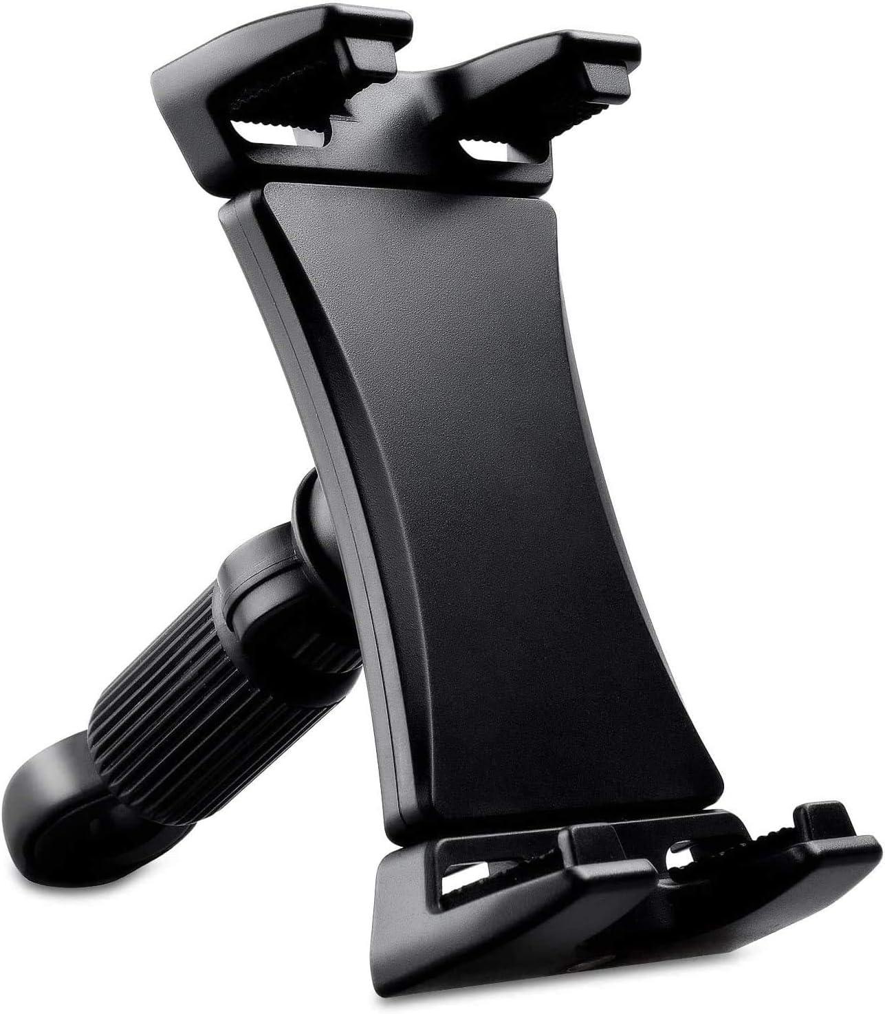 Soporte de bicicleta estática para tablet,Soporte 360° ajustable para iPad Pro,Soporte Universal Reposacabezas de Coche para Móviles y Tabletas