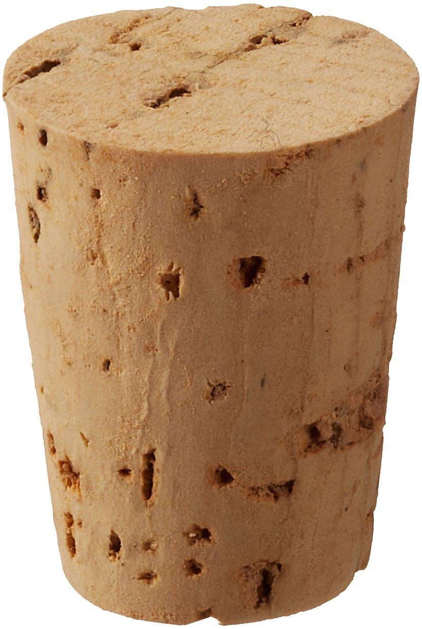 Frey Scientific Natural Cork, 14mm Top Diameter, 11mm Bottom Diameter, #3 Size (Pack of 100) by Frey Scientific