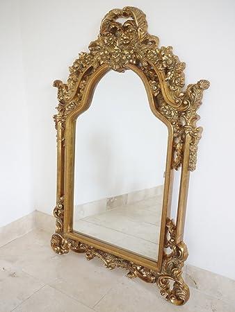 140 cm francese stile barocco rococò cornice dorata antico specchio ...
