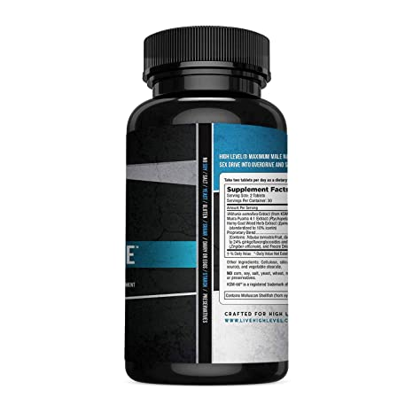 High Level Male | Ultra Premium Testosterone Booster to Increase T-Levels,  Energy, Strength, Drive +