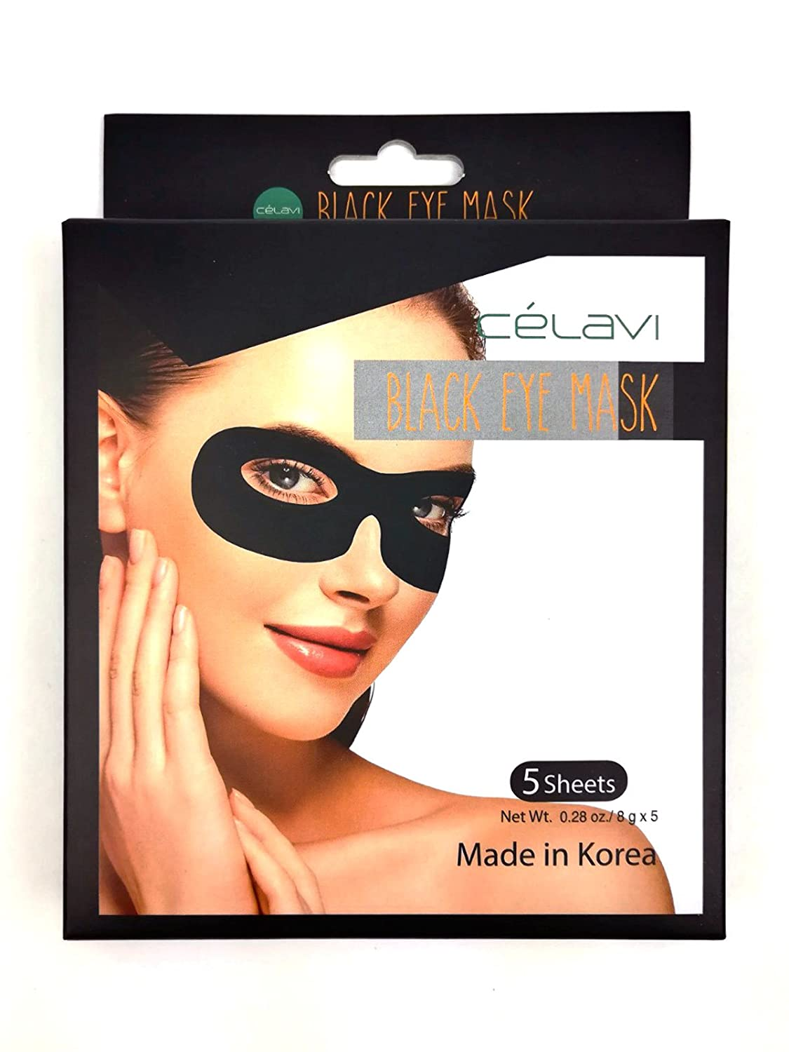 Amazon.com : Celavi Moisturizing & Regerenating Black Eye Mask Pack - 5 SHEETS (NATURAL FRUIT & OIL EXTRACTS) : Beauty