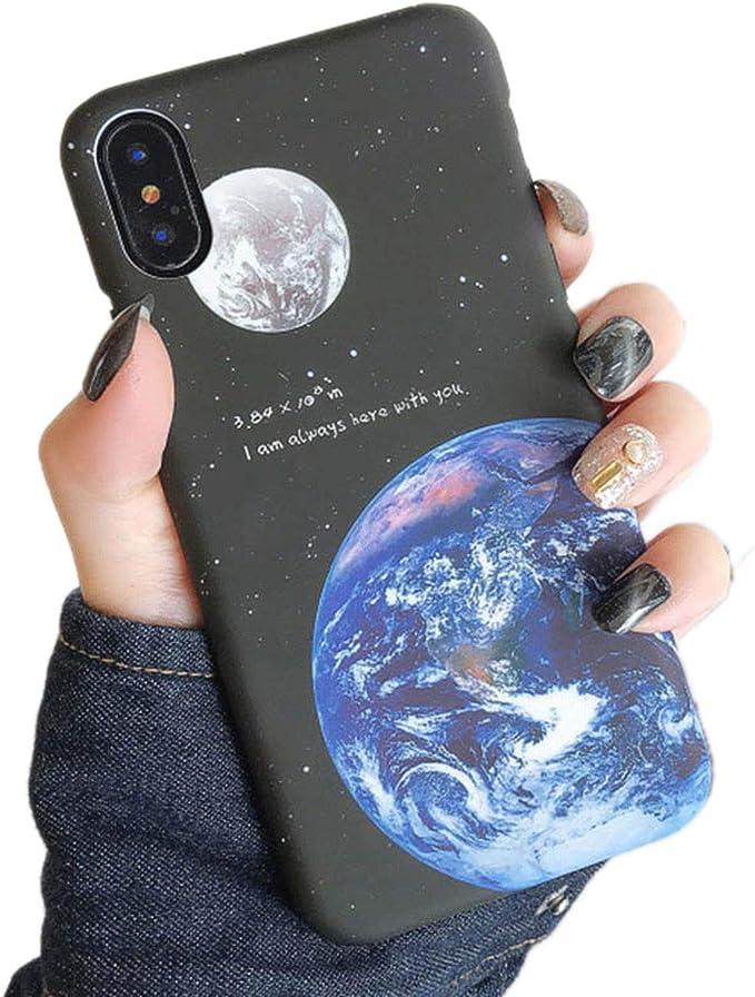 Slim Space Moons Planet Stars custodia per iPhone 6 6S 7 8 Plus X ...