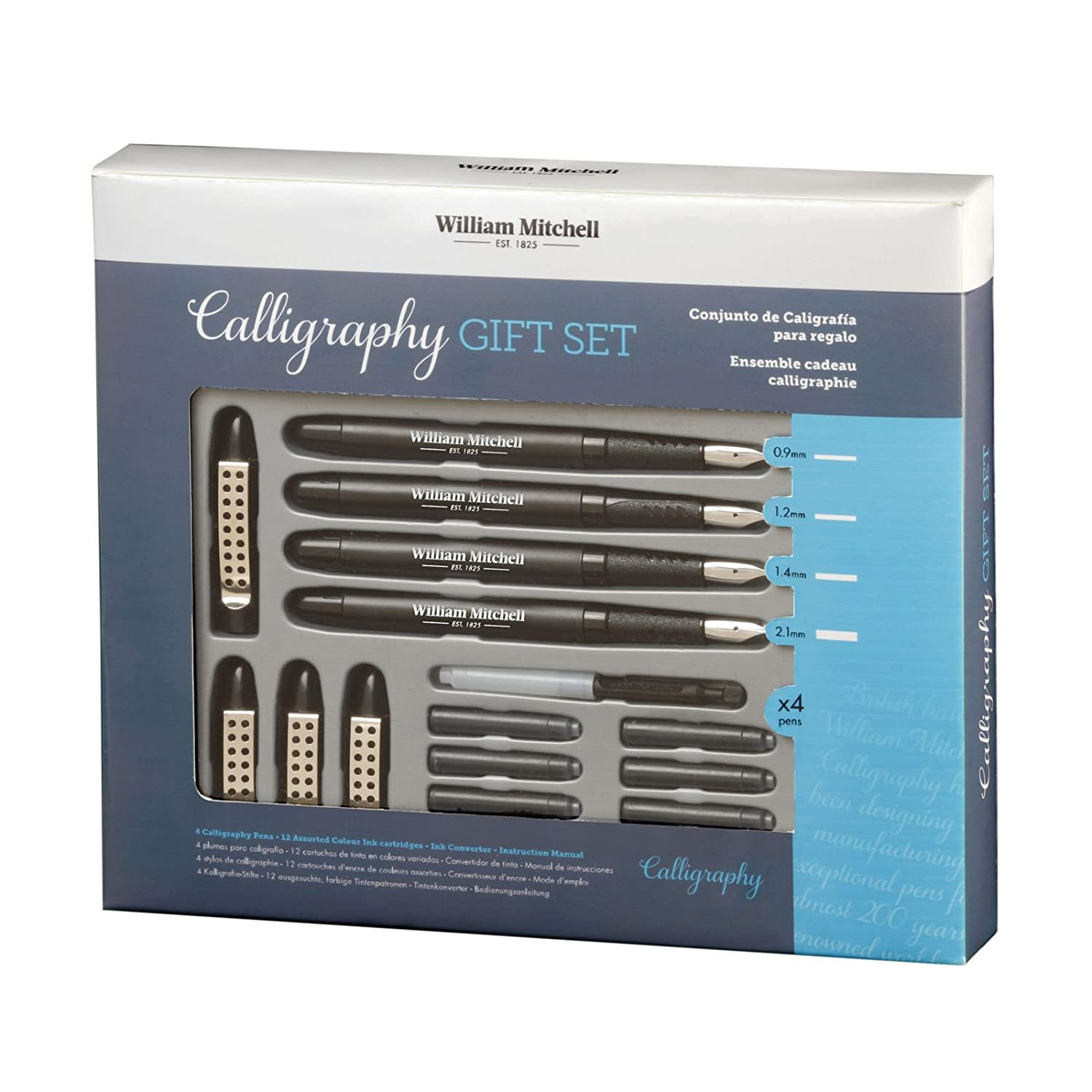 William Mitchell Complete 4 Pen Calligraphy Gift Set 35905