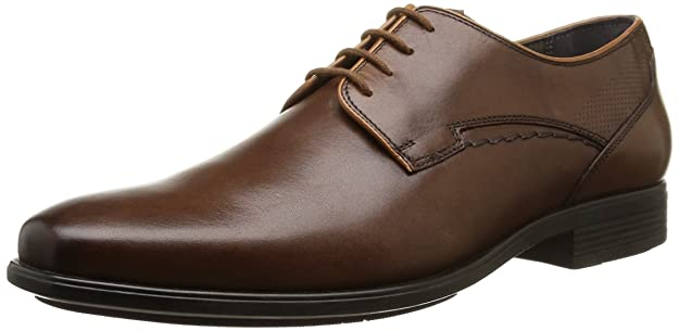 hommes HUSH PUPPIES Cuir Marron Chaussures à lacets Kane Maddow XQsX4jwW