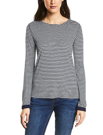 Street One Shirt Manches Longues Femme  Amazon.fr  Vêtements et accessoires d2ac20576a0