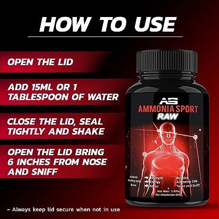 AmmoniaSport Sales olorosas atléticas - Ampollas (25) - Inhalador de amoniaco - [Inhalantes de sal / amoniaco que huelen]