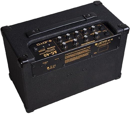 JOYO AC-40 Amplificador de guitarra acústica – Reverb, retraso y ...