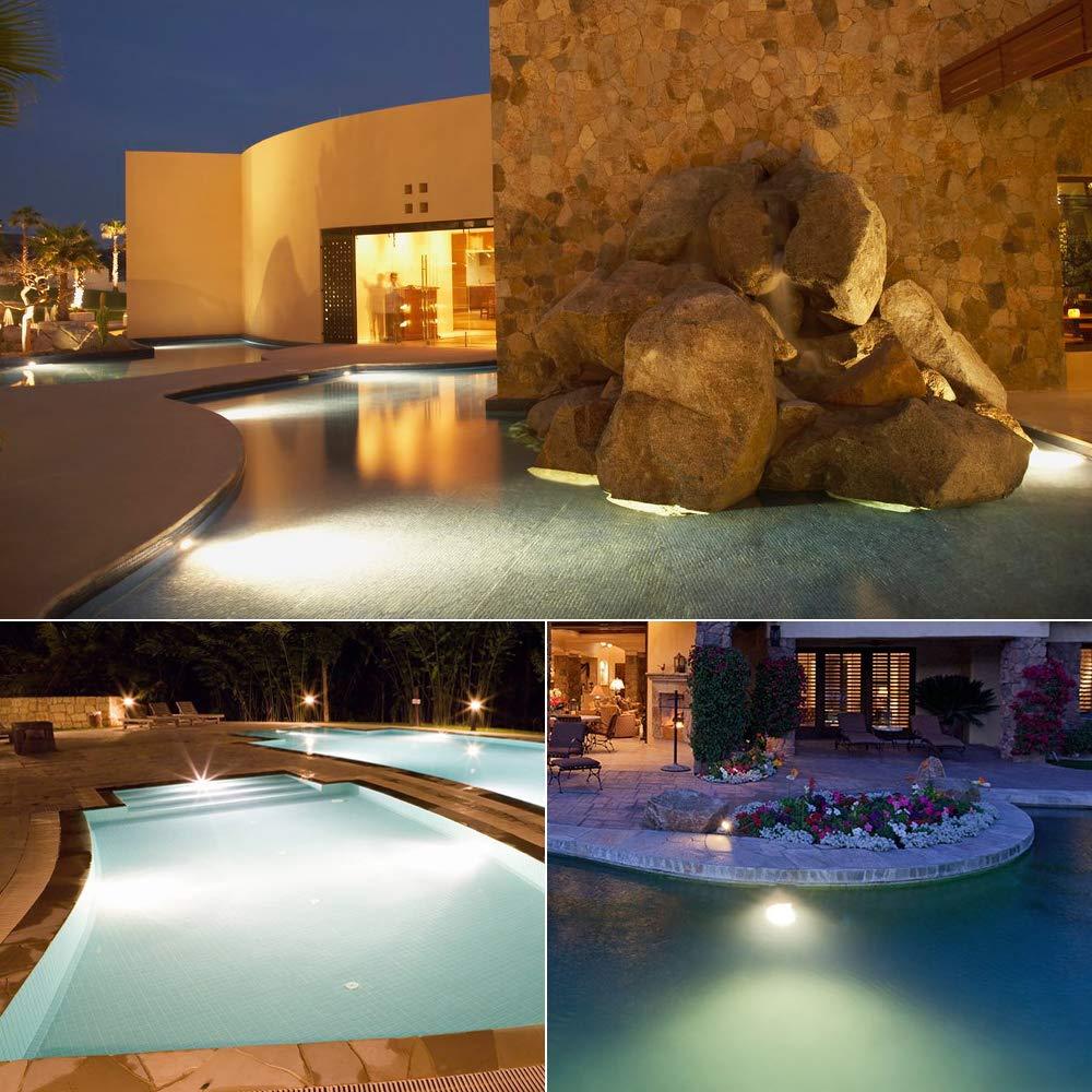 White 10W 12V 1000LM IP67 Diving Fountain Light for Landscape Swimming Pool Pond Piscina Fish Tank Aquarium Car Spotlight LED Underwater Pond Lights