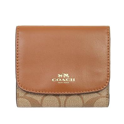 906a5582def47e Amazon   [コーチ] COACH 財布 (三つ折り財布) F53837 カーキ×サドル IMBDX シグネチャー 三つ折り財布 レディース  [アウトレット品] [並行輸入品]   財布