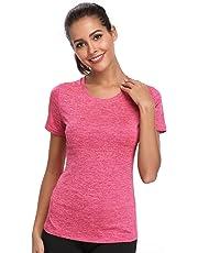 a05dd752dbde00 Joyshaper Compression Tops Women Quick Dry Fit Tank Sweat Shirt T-Shirt Tee  Short Sleeves