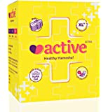 Active Ultra Healthy Hamesha Sanitary Pads For Women Combo Of 4 Boxes - Xl ( 72 Pads) (Size - 320 Mm)