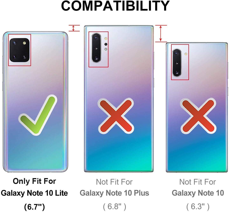 Etui de T/él/éphone avec Cordon XTCASE Collier pour Samsung Galaxy Note 10 Lite Coque Gris Transparente Silicone Housse avec Cordage Lanyard Case Tour de Cou Lani/ère en Corde