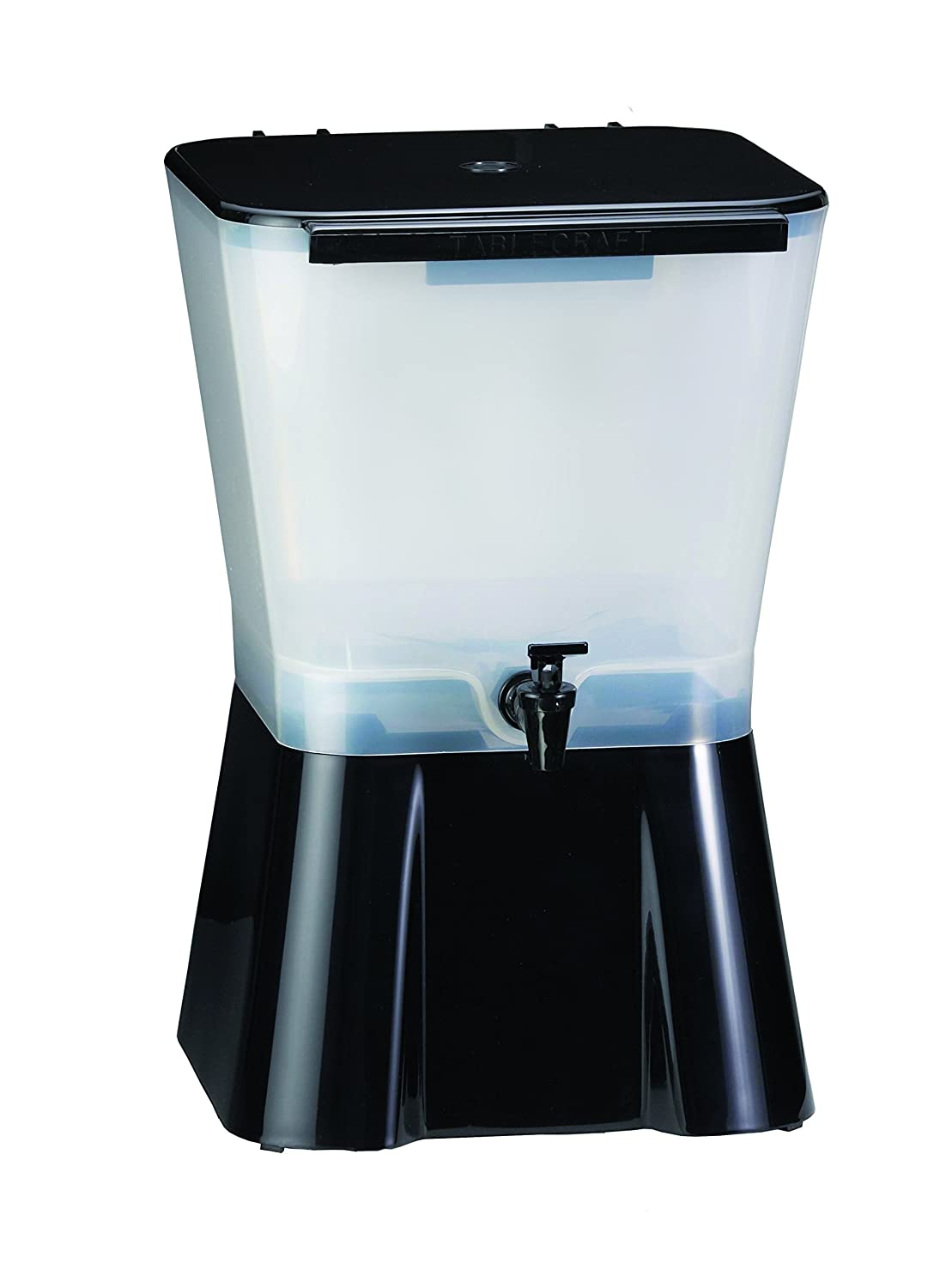 TableCraft H953 3-Gallon Beverage Dispenser Black And Clear