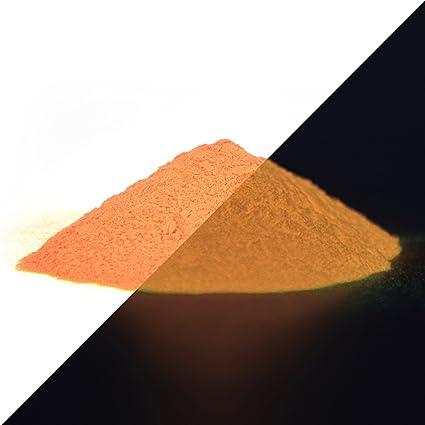 Ultraviolet UV glow Fluorescent pigment poudre-Orange