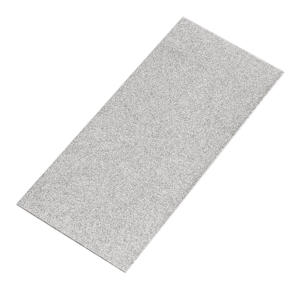 Cnbtr 17x 7, 5x 0, 2cm argento 80# Granularità rettangolo piatto quadrato pietra diamantata rettifica lucidatura Smoothing Tool yqltd