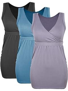 4d502ef995620 Intimate Portal Bump Parade Maternity Nursing Tank Top - Breastfeeding Cami  Sleep Bra w/Pads