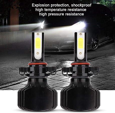Duokon 2 pi/èces 5202 H16 PSX24 Kit de Conversion de Ampoules de Phares /à LED L5 Phares de Brouillard 60W 6000K