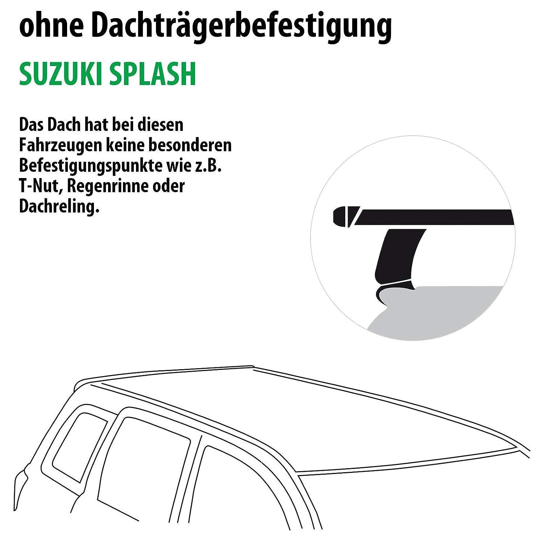 Rameder Komplettsatz Dachtr/äger Tema f/ür Suzuki Splash 118768-07527-14