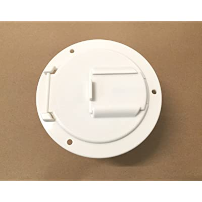 "Valterra White Electric Power Cord Medium Round Cable Hatch 3.5"" Cutout: Automotive"