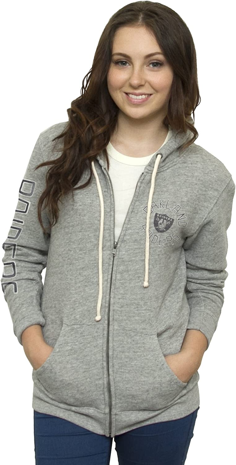 NFL Women's Full Zip Sunday Hoodie with Sleeve Name