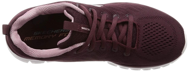 Skechers 12615/WINE Graceful-Get Connected Damen Sneaker dunkelrot/rosa dunkelrot/rosa dunkelrot/rosa Rot (Weiß) 0ed37c