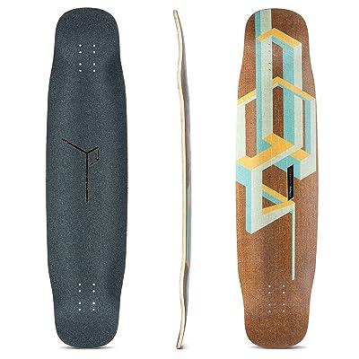 Loaded Boards Basalt Tesseract Bamboo Longboard Skateboard Deck (Mango) : Sports & Outdoors