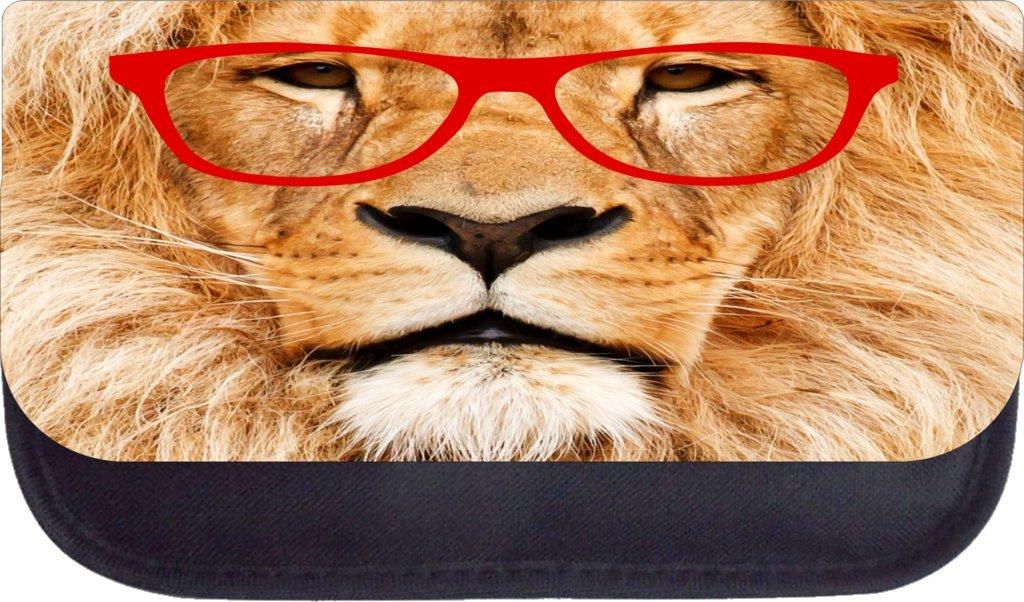 TM Medium Sized Messenger Bag 11.75 x 15.5 and 4.5 x 8.5 Pencil Case SET Hipster lion Rosie Parker Inc