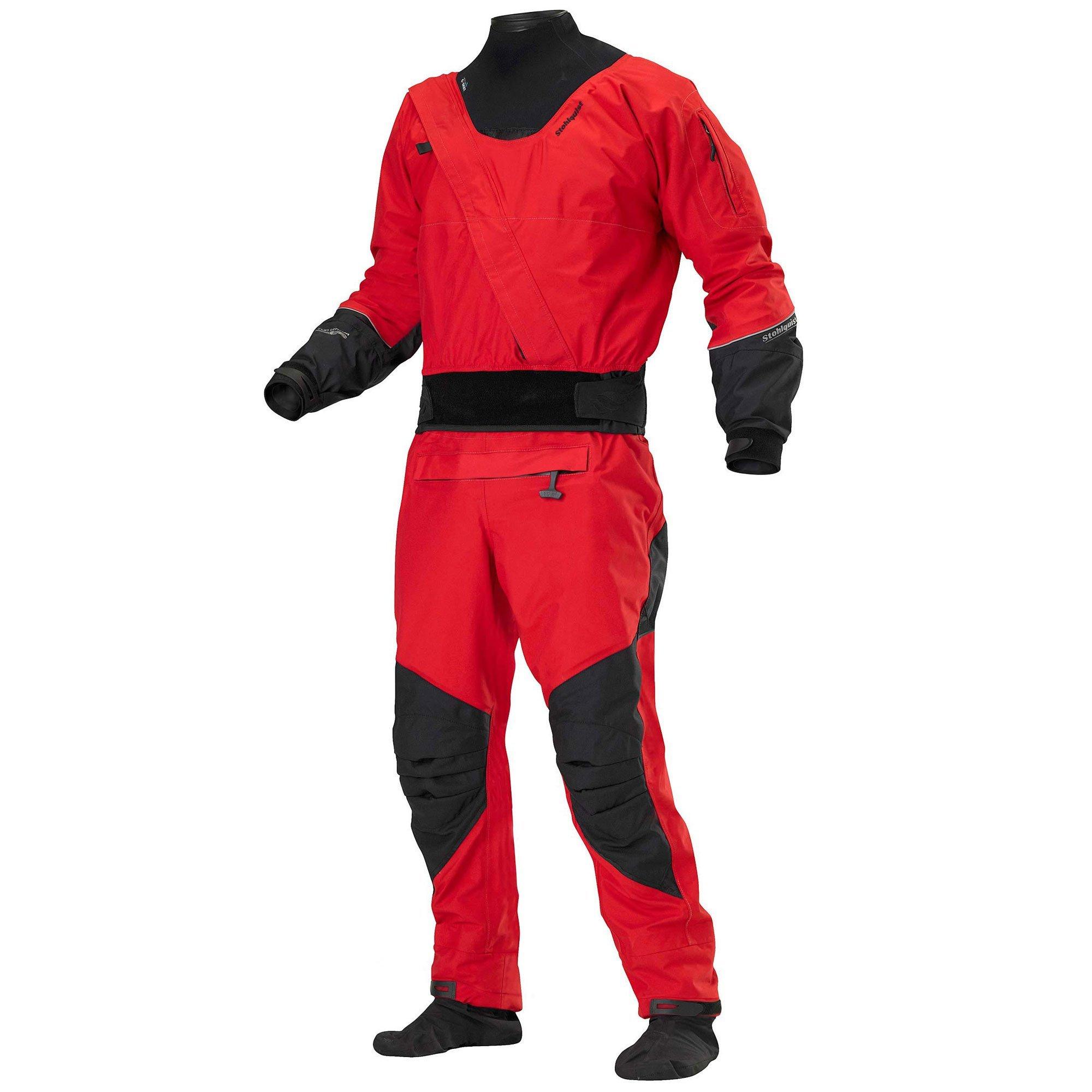 Stohlquist Amp Drysuit with Tunnel Drysuit (Fireball Red/Black, Medium)