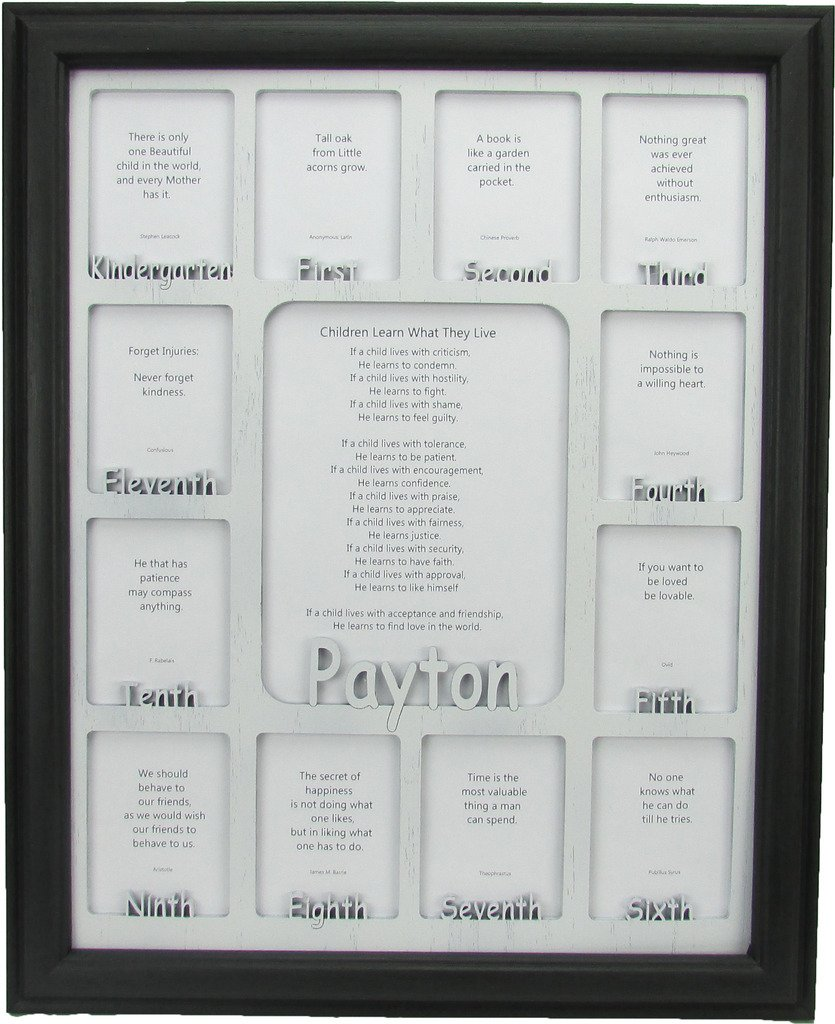 Amazon northland frames and gifts inc school years picture amazon northland frames and gifts inc school years picture frame personalized picture frame with any name oak frame and white wooden matte jeuxipadfo Images