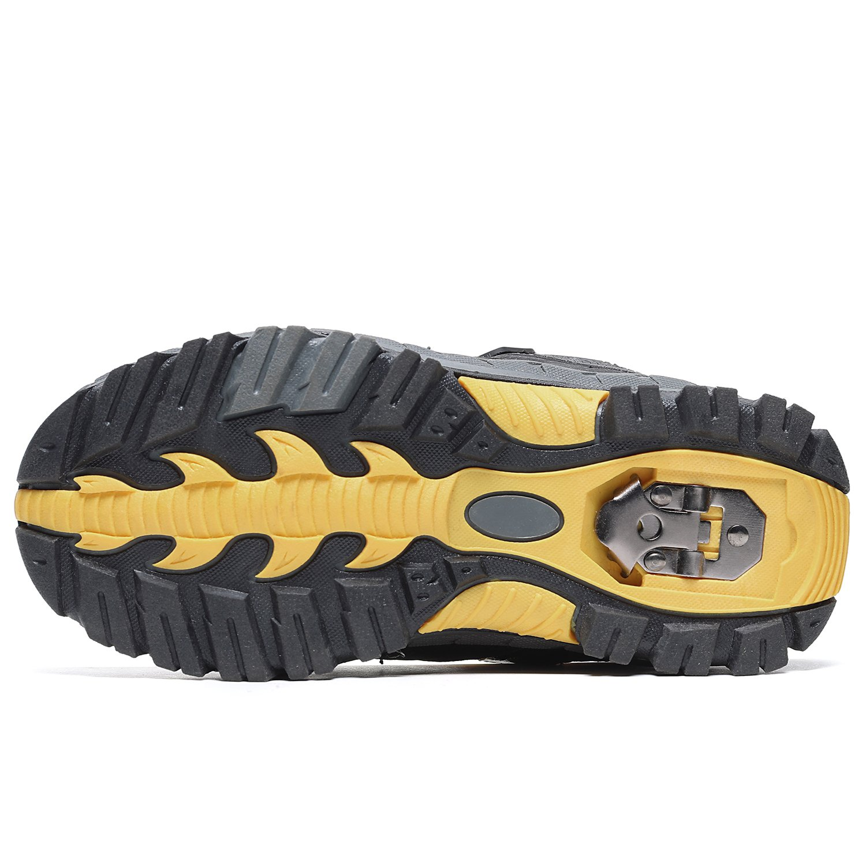 Kids Hiking Shoes Trekking Walking Snow Boots Antiskid Steel Buckle Sole Waterproof Winter Outdoor Climbing Cotton Sneaker.HS-8032-Y-37,5 M US Big Kid(Foot Length=23.5cm),Yellow by Littleplum (Image #4)