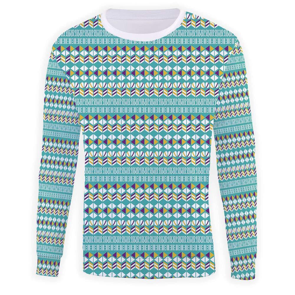 MOOCOM Unisex Geometric Sweatshirts Crewneck