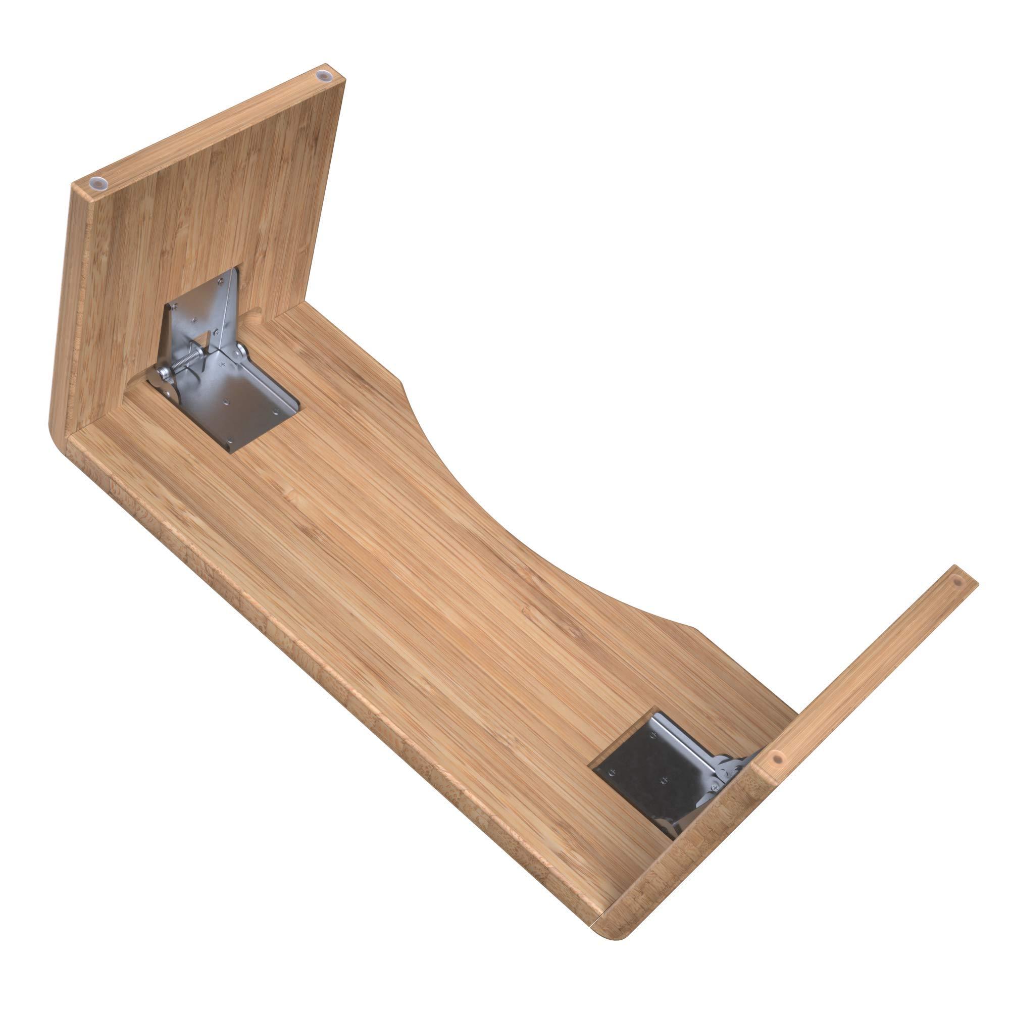 Squatty Potty Oslo Folding Bamboo Toilet Stool 7 Collapsible