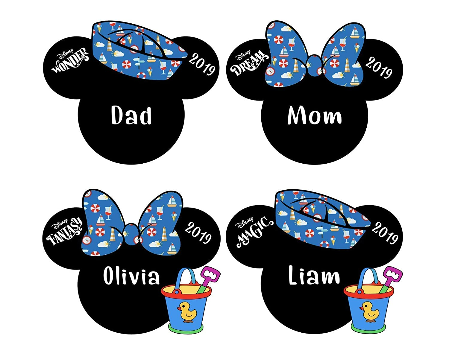 Mickey Mouse Tsum Tsum  Aladdin Disney Cruise Line Name Plate Tag Stateroom Door Magnet  buy 3 get1free New Thicker Magnets