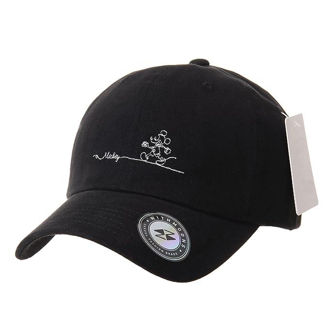 WITHMOONS Gorras de béisbol Gorra de Trucker Sombrero de Disney Mickey  Mouse Baseball Cap Short Suede 6a897ecec7e