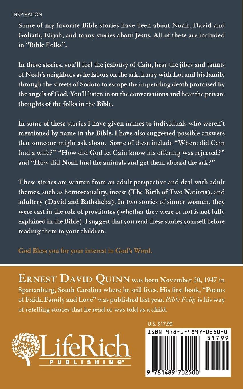 amazon com bible folks 9781489702500 ernest d quinn books