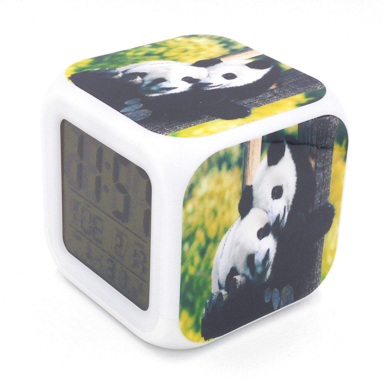Boyan New Cute Panda Animal Led Alarm Clock Desk Clock Multipurpose Calendar Snooze Glowing Led Digital Alarm Clock for Unisex Adults Kids Toy Gift by Boyan (Image #3)
