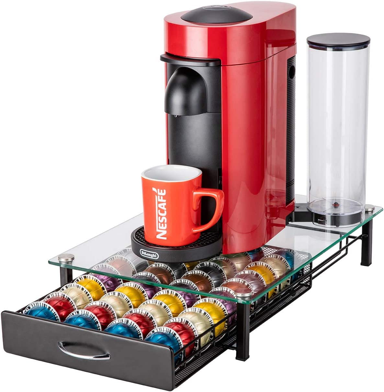Bracket door pods 50 capsules nespresso coffee dispenser 5hbk