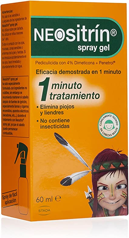 Neositrín - Spray Gel, Tratamiento para Eliminar Piojos y Liendres ...