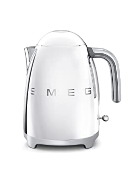 SMEG KLF01 Calentador de Agua electrico, hervidor KLF01SSEU, 2400 W, 1.7 litros, Acero Inoxidable, cromo