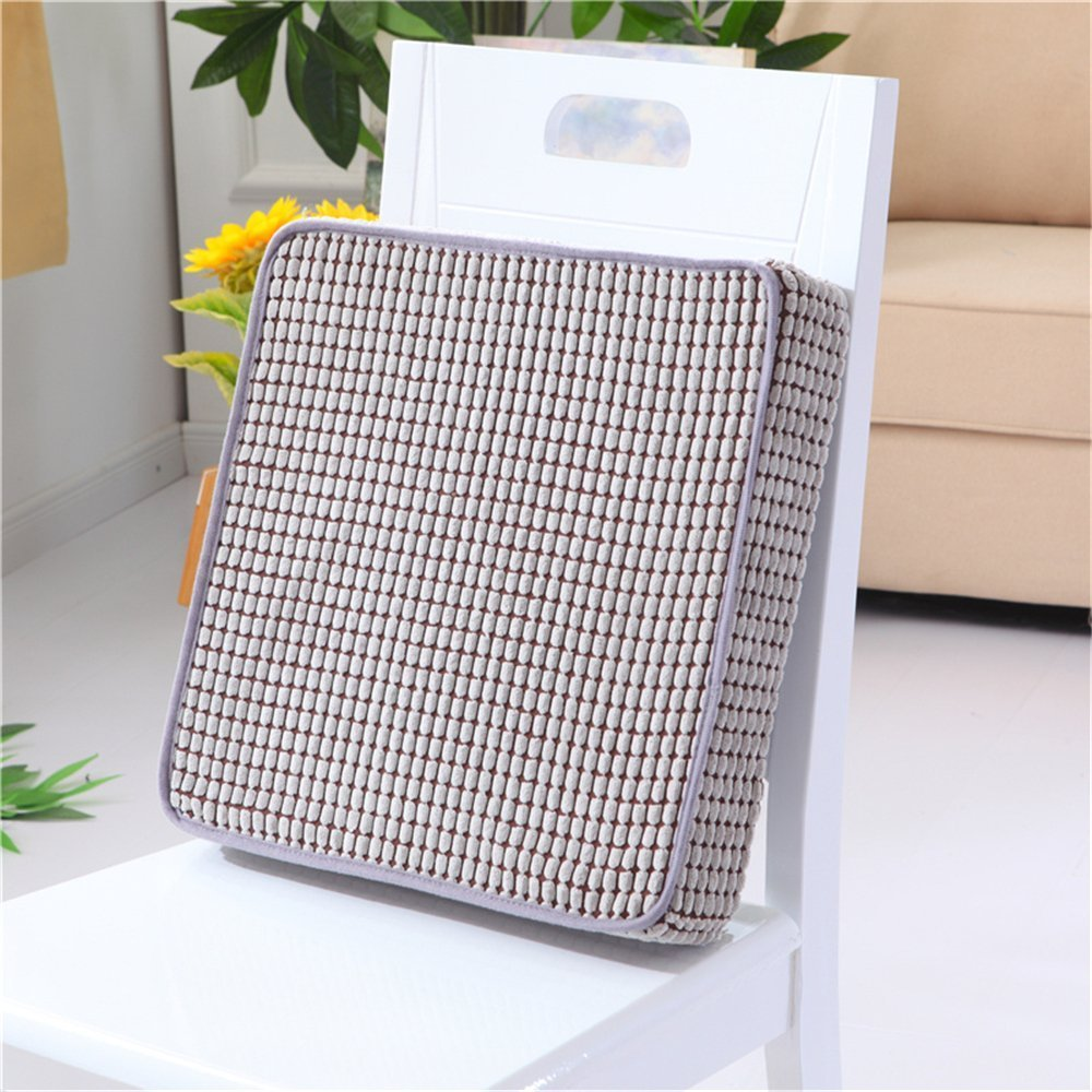 APSOONSELL Comfortable Padded Cushion Chair Seat Pads - Memory Foam Seat Cushion for Kitchen Dining Chair/Home/Office 40x40cm, Grey