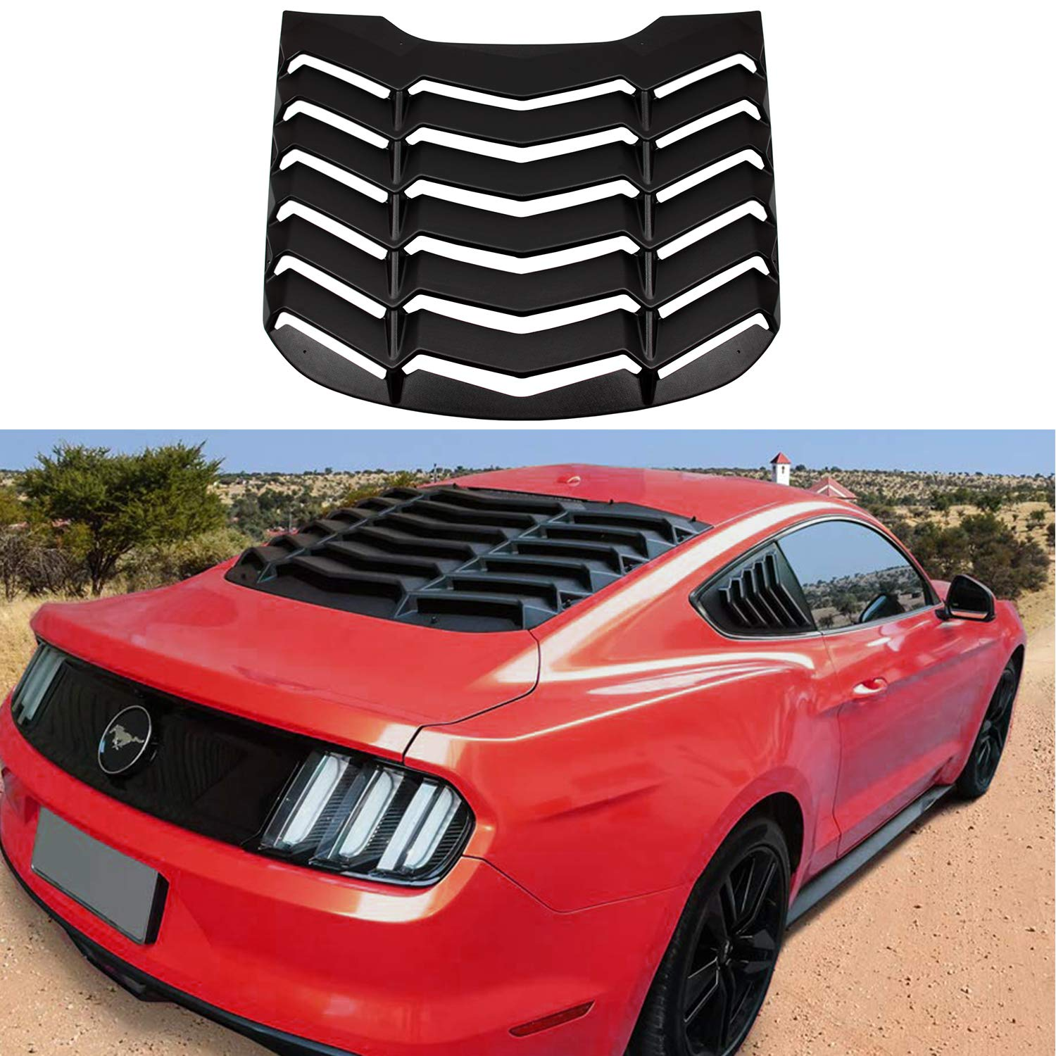 Rear and Side Window louvers Windshield Sun Shade Cove for 2005-2014 Ford Mustang GT Lambo Style