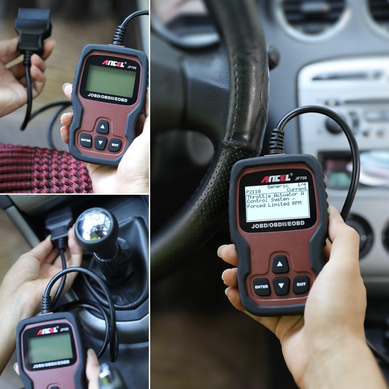 ANCEL JP700 Automotive JOBD Code Reader Car OBD2 Scanner Check Engine Light Scan Tool for Read and Erase Fault Codes Japanese Vehicles