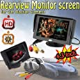 Aketek 4.3 Inch LCD TFT Rearview Monitor screen for Car Backup Camera