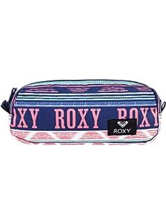 Roxy Da Rock Estuche Escolar, Mujer, Verde/Blanco (Bright White AX Boheme