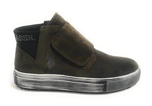 Scarpe Donna US Polo Sneaker Alto Mod. VESSY Pelle Scamosciata ...